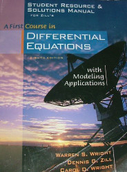 Student Resource And Solutions Manual For Zill's A First Course In Differential Equations With Modeling Applications