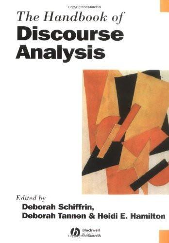 Handbook Of Discourse Analysis