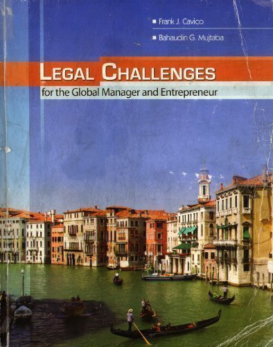 Legal Challenges For The Global Manager And Entrepreneur