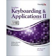 Paradigm Keyboarding And Applications Ii