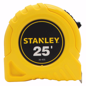 "Stanley 1"" x 25' Yellow Tape Measure Rule Top Lock 30-455"