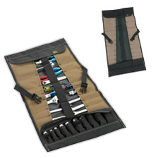 CLC Custom Leather Craft 32 Pocket Socket Tool Roll Up Pouch (1173) Empty