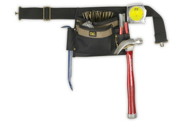 CLC Custom LeatherCraft 1245 6 Pocket Single Side Carpenter's Poly Tool Apron