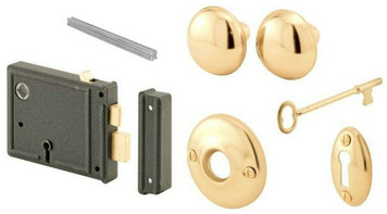 Prime Line Horizontal Surface Mounted Bit Key Lockset (E2478)