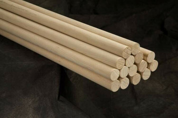 "6 Round Hardwood Dowel Rods 7/8"" Dia x 36"" Long 7314U C.C. Purple"