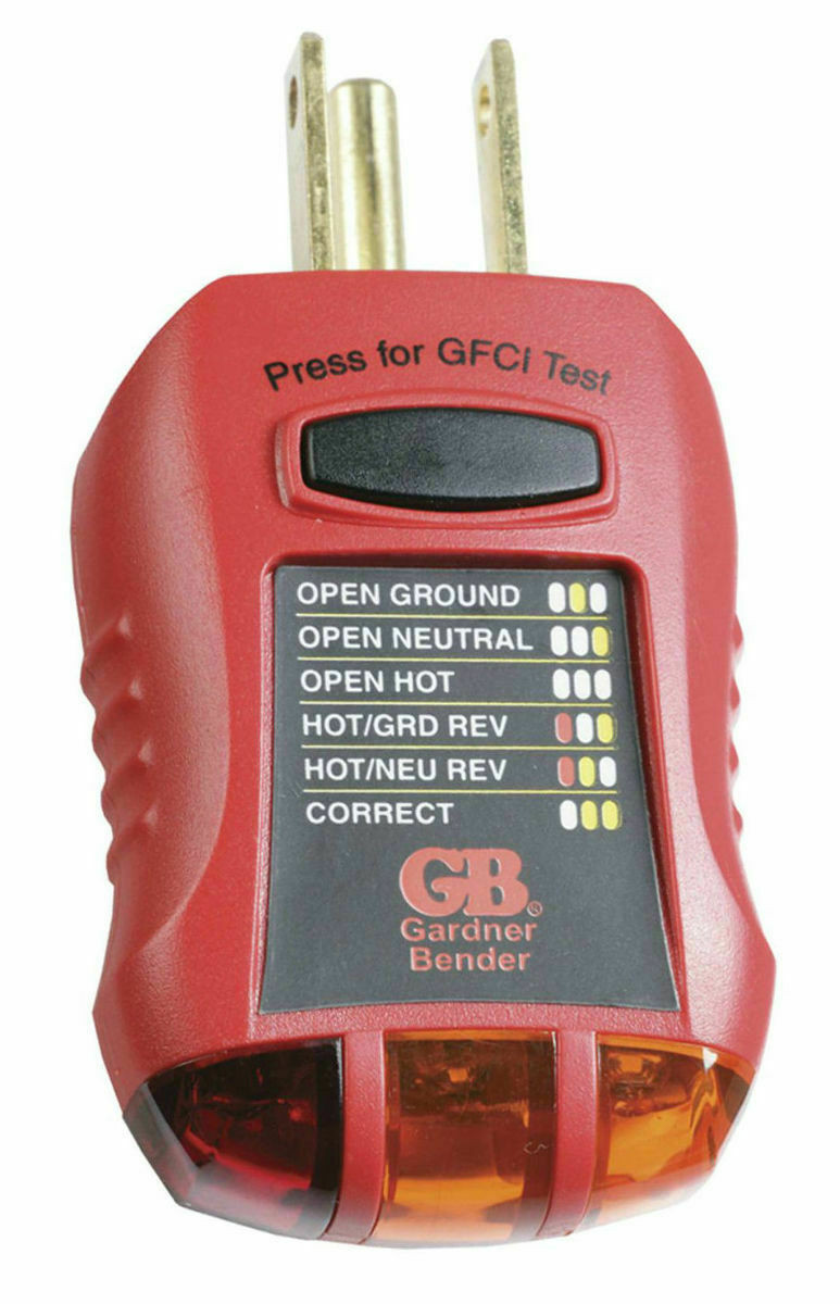 Gardner Bender Ground Fault Outlet Receptacle Tester Circuit Analyzer Alert Noncontact Voltage Detector Gvd3504