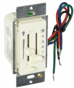 Hunter 27183 4 Speed Ceiling Fan & Light Slide Control Switch