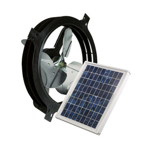 Air Vent 53560 Solar Power Gable Attic Ventilator Fan - 800 CFM