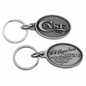 Case XX 50126 Knife Accessories Oval Pewter Key Chain