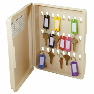 Hy-Ko Lockable Plastic Storage Cabinet (KO302) - Holds 24 Keys