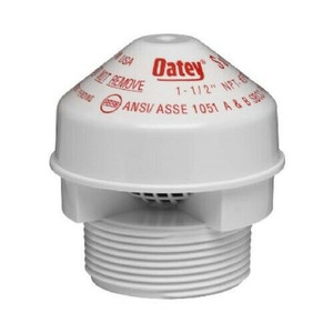 "Oatey Sure Vent Air Admittance Valve 1-1/2"" -2"" PVC Adapter"