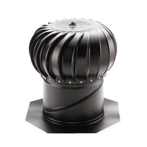 Lomanco BIB12B Black Twelve (12) Inch Whirlybird Turbine Attic Vent