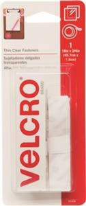 "Velcro Brand 91326 Clear 3/4"" by 18"" Clear Tape Hook and Loop Type Fastener"