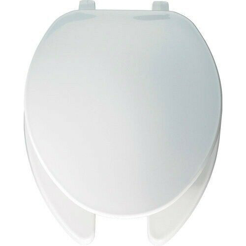 Cool Bemis 175 000 White Elongated Open Front Toilet Commode Seat W Cover Bralicious Painted Fabric Chair Ideas Braliciousco