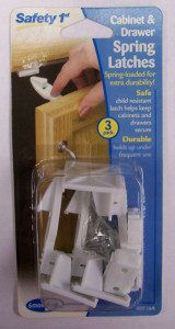 Safety 1st Dorel 00516A Cabinet & Drawer Spring Latches - 3 Pack White