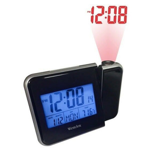 Westclox LCD Digital Projection Alarm Clock (72027)