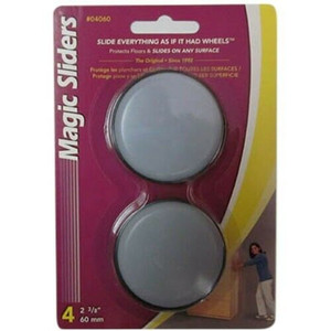 "Magic Sliders 04060 4 Pack 2 3/8"" Round Sliding Discs"
