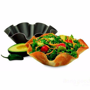 "Norpro 1058 7"" Nonstick Mini Tortilla Shell Baker Taco Bowl Pan Set of 2"