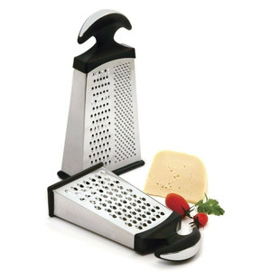 Norpro 350 Grip-EZ Stainless Steel Slim Grater With 3 Surfaces