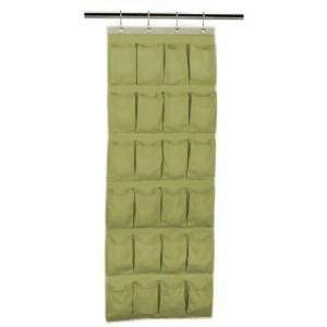 Household Essentials  24 Pocket Over the Door OTD Shoe Organizer