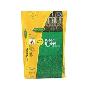 Green Thumb GTH296DS160.1 16 Pound Premium Weed & Feed Lawn Fertilizer