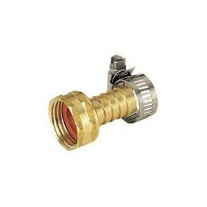 "MintCraft 5/8""- 3/4"" Female Brass Hose Repair Coupling w/ Clamp"