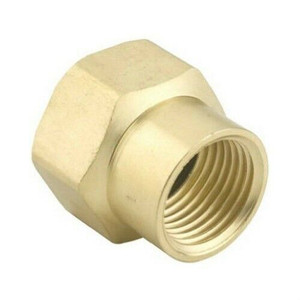 """Green Thumb Brass Double Female 3/4"""" Hose to 1/2"""" Pipe Connector"""