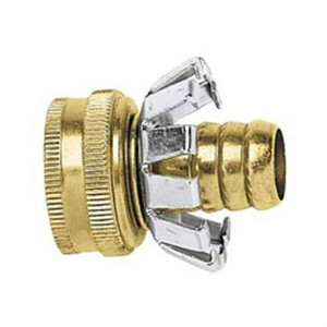 """Green Thumb Brass Female End 5/8"""" Hose Mender with Clencher"""
