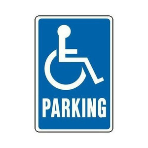 "Hy-Ko HW-13 12"" x 18"" Heavy Duty Aluminum Handicap Parking Sign"