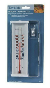 Taylor Large Aluminum Easy-to-Read Window Thermometer (5316)