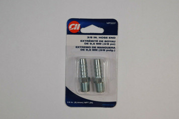 """Campbell Hausfeld MP3207 1/4"""" NPT Male Hose End - Steel - 2 Pack"""