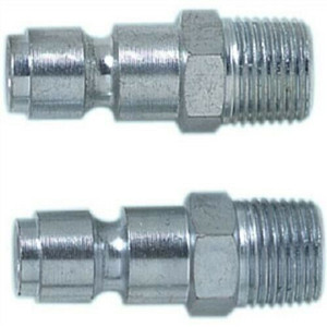 "Campbell Hausfeld  3/8"" T Automotive Plug NPT Male - Steel - 2 Pack"