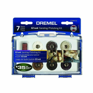 Dremel EZ684-01 Cleaning & Polishing 7pc Rotary Tool Set w/ Case