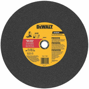 "DeWalt Gen. Purpose Metal Cutting Saw Wheel 14"" x 7/64"" x 1"" (DW8001)"