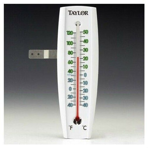 "Taylor 5153 7.5"" Large Easy To Read Window Thermometer w/ Mounting Bracket"