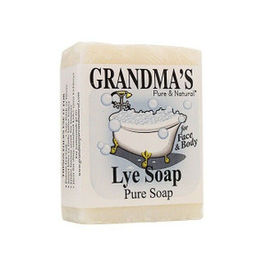 Remwood Products 60018 Grandma's Pure & Natural Lye Soap 6oz Bar Unscented