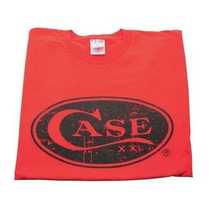 Case XX 50205 Knife Accessories Small Red Case Cotton T-Shirt is made from 100% in the U.S.A & features the XX Case signature oval logo on the front.