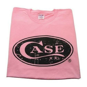 Case XX 50229 Knife Accessories Large Hot Pink Case Cotton T-Shirt is made from 100% in the U.S.A & features the XX Case signature oval logo on the front.