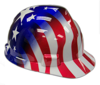 MSA Safety Works 10052945 USA Patriotic Stars and Stripes Hard Hat