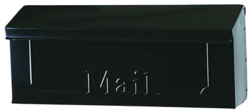 Solar Group THHB0001 Wall Mount Townhouse Non-Locking Mailbox w/ Optl. Mag. Rack