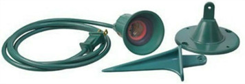 Master Electrician 05706ME Green Standard Flood Light Bulb Holder with 6 ft Cord