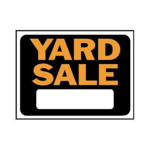 "Hy-Ko 9""x12"" Plastic Yard Sale Signs Lot of 10 3033"