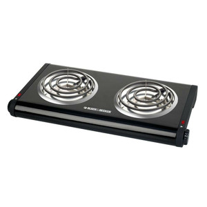 Applica DB1002B Black & Decker Black Coiled Element Hot Plates