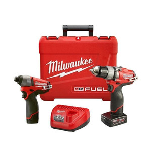 Milwaukee 2594-22 Combo 1/2 Drill/Impact Kit w/ 2 Batteries