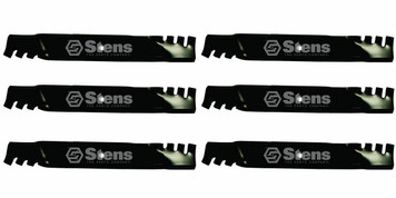 """Stens 302-244 6 PK Toothed Blades Grasshopper Woods 52"""" Cut Lawn Mower Deck"""