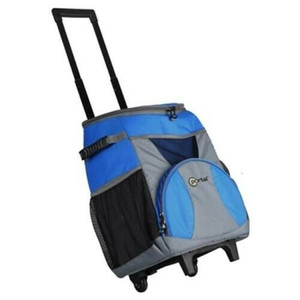 Westfield Outdoor TRCL007 Soft Sided 48 Can Rolling Trolley Cooler has a 'U' Shape Top Opening for Easy Access w/ Handle System & Wheels for Easy Transport.