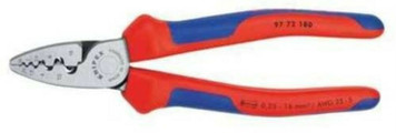 Knipex 97 72 180 7-1/4 Inch 23-5 AWG Insulated Crimping Pliers