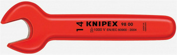 """Knipex 98 00 7/16"""" Insulated Open End Wrench 7/16 in 4-3/4"""" L"""