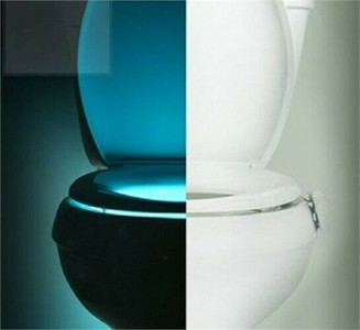 IllumiBowl  Motion Activated 8 Color Bathroom Toilet Bowl Night Light