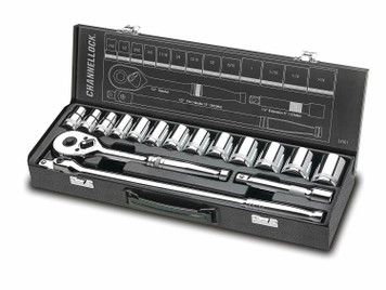 "Channellock 32161 1/2"" 16 Piece Drive SAE Socket Set"